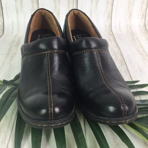 B.O.C. Born Concept Black Clogs Loafer Leather 9